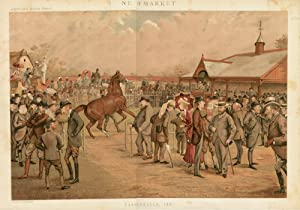 "Tattersall's, 1887"". Double Page Illustration. Racing.: NEWMARKET. (The Sale Paddock.)"