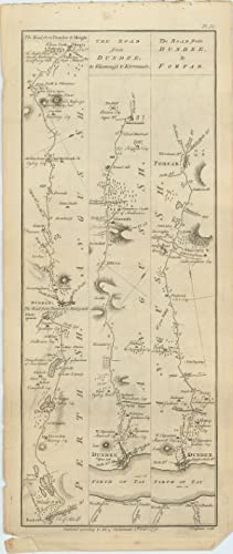 The Road from Dundee to Cupar and Dunkeld. [with] The Road from Dunkeld to Ambleree. [with] [The ...