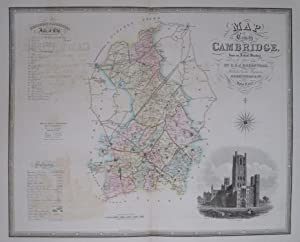 Cambridgeshire. Map of the County of Cambridge, from an Actual Survey made in the Years 1832 & ...