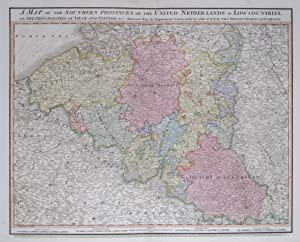 A Map of the Southern Provinces of the United Netherlands or Low Countries, with the Municipaliti...