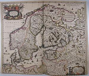 Sveciae Norvegiae, et Dania, Nova Tabula. Amstelodami. Henricus Hondius excudit.: HONDIUS, Henricus...