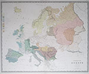 Ethnographic Map of Europe, according to Dr. Gustaf Kombst F.R.N.S.C., M.H.S.P.S., &c. by A.K. ...