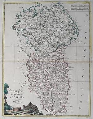 IRELAND). Parte Del Regno D'Irlanda, cioe' Le: PITTERI, G. [Drawn