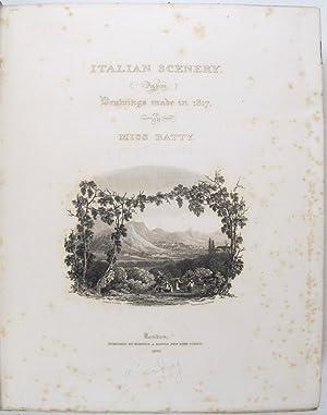 Italian Scenery.: BATTY, Elizabeth.
