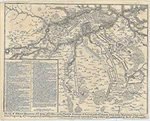 Plan of different Movements of ye Army of ye Allies under Prince Eugene of Savoy, and of ye French ...