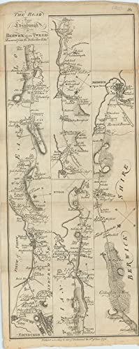 The Road From Edinburgh to Berwick upon Tweed. Measured from the Nether Bow Edin.r. [with on verso]...