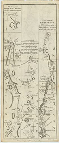 Road from Edinburgh to Wigtoun and Whitehorn by Biggar Lead Hills and New Galloway [with on verso] ...
