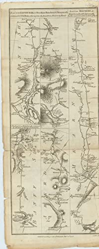 The Road from Edinburgh to Fochabers by Huntly, continued from North Esk Bridge [with on verso] ...