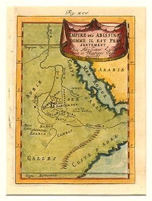 Empire Des Abissins Comme Il Est Presentement. / das Abyssiner Landt Wie es Heutiges Tages ...