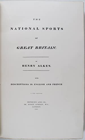 The National Sports of Great Britain. with description in English and French. A New Edition.: ALKEN...