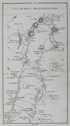 Road from Dublin to Ballyshannon, Donegall, & Killybeggs [and on verso] From Dublin to ...