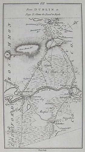 From Dublin to Killala. [and on verso] From Dublin to [Killala, Roscommon & Boyle.]: TAYLOR, [...
