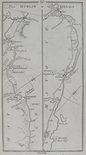Killala, Roscommon & Boyle. [and on verso] From Dublin to Killala.: TAYLOR, [George] & [Andrew]...