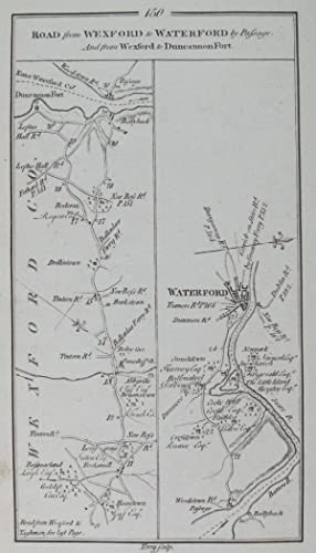 Road from Wexford to New-Ross & Waterford By-Passage. [and on verso] Road from Wexford to ...
