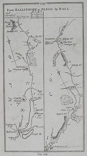 From Castlebar to Killala & Castle Lachen [and on verso] From Ballinrobe to Sligo by Ball.: ...