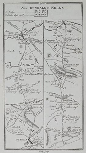 From Monaghan to Enniskillen [and on verso] From Dundalk to Kells.: TAYLOR, [George] & [Andrew] ...