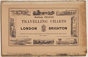 London - Brighton. Railway Chronicle Travelling Charts; Or, Iron Road Books, for perusal on the ...