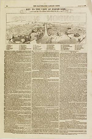 Edinburgh. Supplement to the Illustrated London News: EDINBURGH PANORAMA