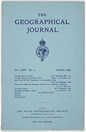 The Geographical Journal: Vol LXIV [64] No. 4.