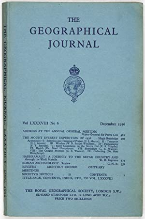The Geographical Journal: Vol LXXXVIII [88] No. 6.