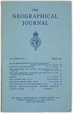 The Geographical Journal: Vol LXXVII [77] No. 3.