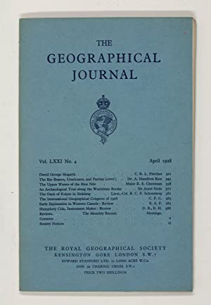 The Geographical Journal: Vol LXXI [71] No. 4.