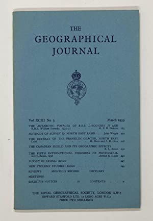 The Geographical Journal: Vol XCIII [93] No. 3.