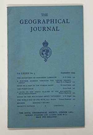 The Geographical Journal: Vol LXXXII [82] No. 3.
