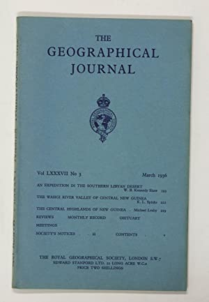 The Geographical Journal: Vol LXXXVII [87] No. 3.