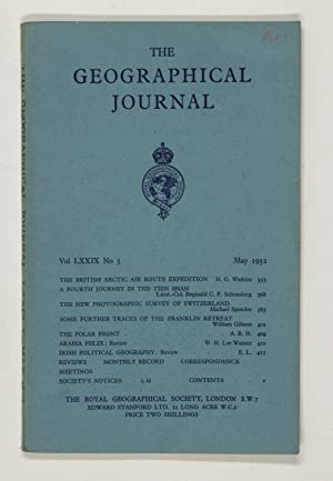 The Geographical Journal: Vol LXXIX [79] No. 5.