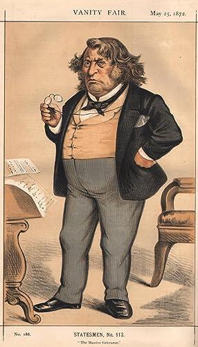 "No. 186. ""The Massive Grievance."" Statesmen. No. 113.: SUMNER, Charles, The Hon., Member ..."