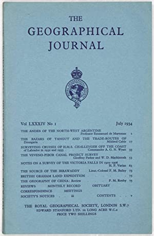 The Geographical Journal: Vol LXXXIV [84] No. 1.