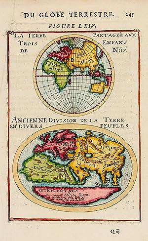 La Terre Partageé aux Trois Enfans de Nöé./ Ancienne Division de la Terre ...