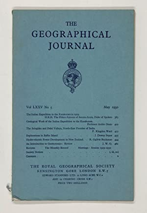 The Geographical Journal: Vol LXXV [75] No. 5.