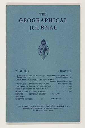 The Geographical Journal: Vol XCI [91] No. 2.