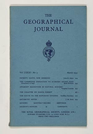 The Geographical Journal: Vol LXXXV [85] No. 3.