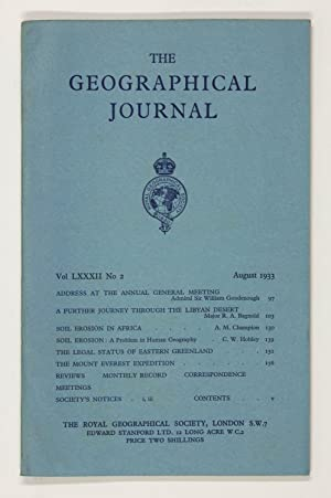 The Geographical Journal: Vol LXXXII [82] No. 6.