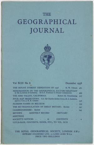 The Geographical Journal: Vol XCII [92] No. 6.
