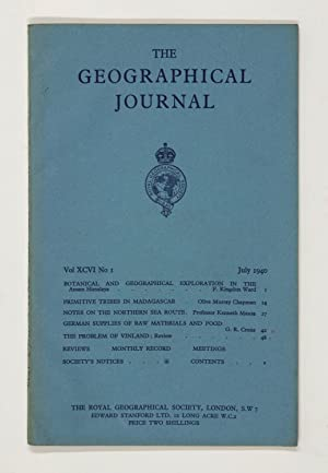 The Geographical Journal: Vol XCVI [96] No. 1.