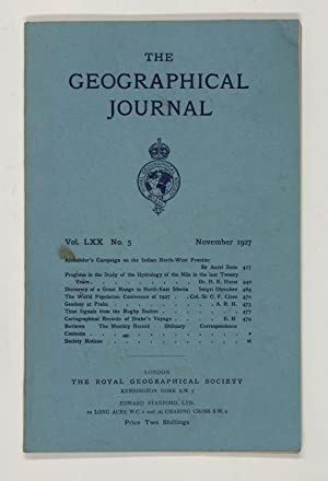 The Geographical Journal: Vol LXX [70] No. 5.