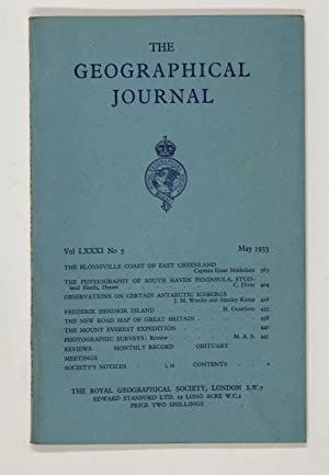 The Geographical Journal: Vol LXXXI [81] No. 5.
