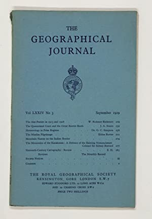 The Geographical Journal: Vol LXXIV [74] No. 3.