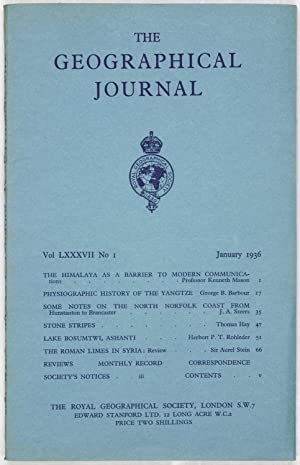 The Geographical Journal: Vol LXXXVII [87] No. 1.