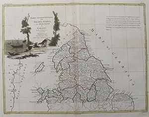 Parte Settentrionale dell' Inghilterra e del Principato: PITTERI, G. [Drawn