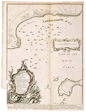 A Draught of the Bay of Bulls [near Cadiz] between the Town of Rotta and Fort St. Catherine, unde...