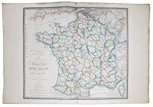 Map of France describing the New Limits according to the Treaty of Peace.
