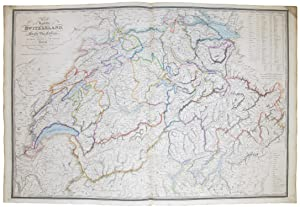 Map of the Republic of Switzerland describing the twenty-two Cantons. including those of Le Valai...