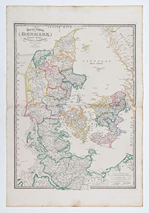 Map of the Kingdom of Denmark including the Dutchies of Holstein & Lauenburg