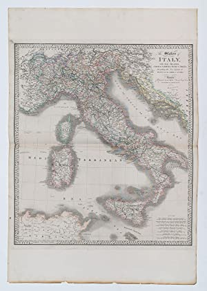 The States of Italy with their islands, Corsica,Ssardinia, Sicily & Malta, describing the new lim...
