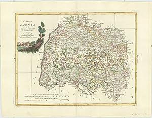 Circolo di Svevia divisa Ne Suoi Stati: PITTERI, G. [Drawn